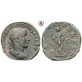 Römische Kaiserzeit, Gordianus III., Sesterz 243-244, vz