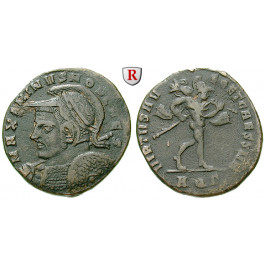 Römische Kaiserzeit, Maximinus II., Caesar, Follis 306-307, ss