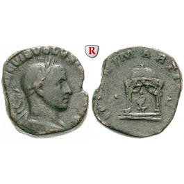 Römische Kaiserzeit, Volusianus, Sesterz 251-253, s-ss