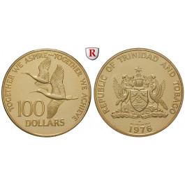 Trinidad und Tobago, 100 Dollars 1976, 3,11 g fein, PP