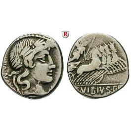 Römische Republik, C. Vibius, Denar 90 v.Chr., ss