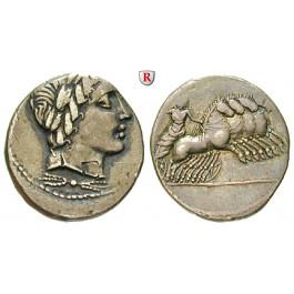 Römische Republik, Anonym, Denar 86 v.Chr., ss+
