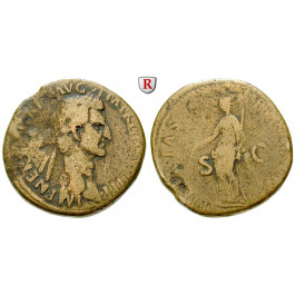 Römische Kaiserzeit, Nerva, Sesterz 97, ss