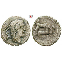 Römische Republik, L. Procilius, Denar, serratus 80 v.Chr., ss