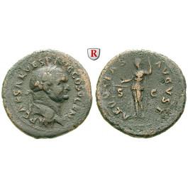 Römische Kaiserzeit, Vespasianus, As 74, f.ss