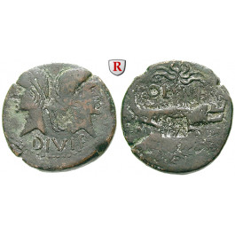 Römische Kaiserzeit, Augustus, As 9/8 -3 v. Chr., f.ss