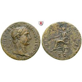 Römische Kaiserzeit, Traianus, Sesterz 101-102, ss