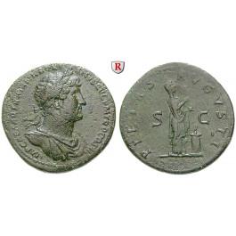 Römische Kaiserzeit, Hadrianus, Sesterz 119-121, ss