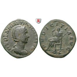 Römische Kaiserzeit, Herennia Etruscilla, Frau des Traianus Decius, Sesterz 249-251, ss
