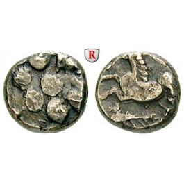 Mittelgallien, Arverni, Drachme 120-60 v.Chr., ss