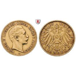 Deutsches Kaiserreich, Preussen, Wilhelm II., 10 Mark 1904, A, ss, J. 251