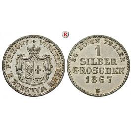 Waldeck, Fürstentum, Georg Victor, Silbergroschen 1867, vz