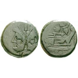Römische Republik, Anonym, As 169-158 v.Chr., ss