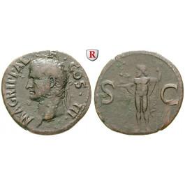 Römische Kaiserzeit, Agrippa, As 37-41, ss