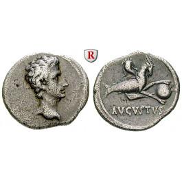 Römische Kaiserzeit, Augustus, Denar 18-17/16 v.Chr., ss