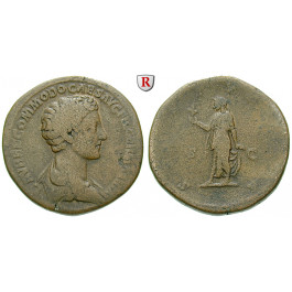 Römische Kaiserzeit, Commodus, Caesar, Sesterz 175-176, f.ss