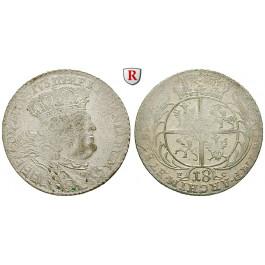 Sachsen, Albertinische Linie, Friedrich August II., 18 Gröscher Datum nicht lesbar (1754-56), ss-vz