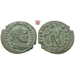 Römische Kaiserzeit, Diocletianus, Follis 297-299, vz/ss-vz