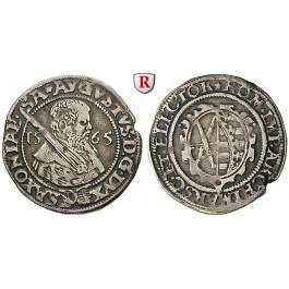 Sachsen, Albertinische Linie, August, 1/8 Taler 1565, ss