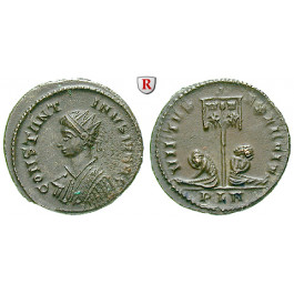Römische Kaiserzeit, Constantinus II., Caesar, Follis 320, vz