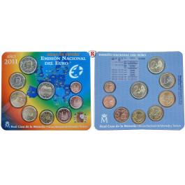 Spanien, Juan Carlos I., Euro-Kursmünzensatz 2011, st
