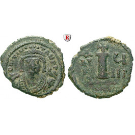 Byzanz, Mauricius Tiberius, Decanummium (10 Nummi) 589-590, ss+/ss