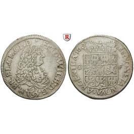 Brandenburg-Preussen, Kurfürstentum Brandenburg, Friedrich Wilhelm, 1/3 Taler 1668, ss