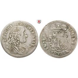 Brandenburg-Preussen, Kurfürstentum Brandenburg, Friedrich Wilhelm, 2/3 Taler 1675, ss