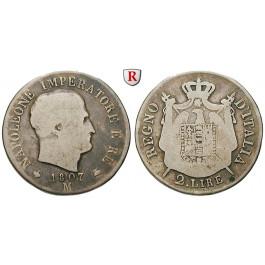 Italien, Königreich, Napoleon I., 2 Lire 1807, s