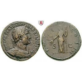 Römische Kaiserzeit, Hadrianus, Sesterz 121, ss+/ss