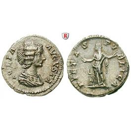 Römische Kaiserzeit, Julia Domna, Frau des Septimius Severus, Denar 201, vz+