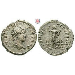 Römische Kaiserzeit, Caracalla, Denar 207, ss+