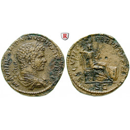 Römische Kaiserzeit, Caracalla, Sesterz 210-213, ss+