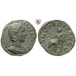 Römische Kaiserzeit, Otacilia Severa, Frau Philippus I., Sesterz 244-247, ss+