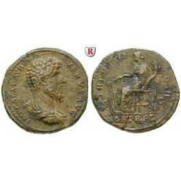 Römische Kaiserzeit, Lucius Verus, Sesterz 162-163, ss