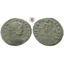 Römische Kaiserzeit, Maximinus II., Follis 309-310, ss-vz