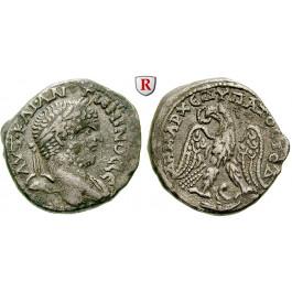 Römische Provinzialprägungen, Phönizien, Berytus, Caracalla, Tetradrachme 215-217, ss+