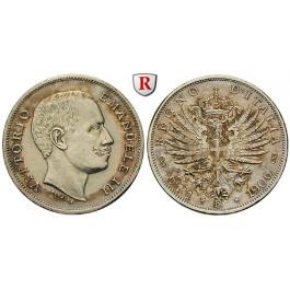 Italien, Königreich, Vittorio Emanuele III., Lira 1906, vz