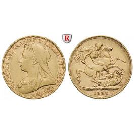 Australien, Victoria, Sovereign 1898, 7,32 g fein, ss+