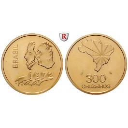 Brasilien, Republik, 300 Cruzeiros 1972, 15,32 g fein, f.st