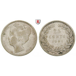 Niederlande, Königreich, Wilhelmina I., 25 Cents 1904, s