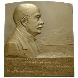 Personenmedaillen, Zeiner, Hans, Einseitige Bronzeplakette 1909, f.prfr.
