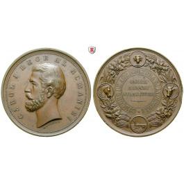 Rumänien, Carol I., Bronzemedaille o.J. (1881), vz-st