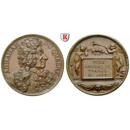 Personenmedaillen, Duquesne, Abraham - Französischer Admiral, Bronzemedaille o.J., st