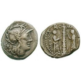 Römische Republik, Ti. Minucius, Denar 134 v.Chr., ss