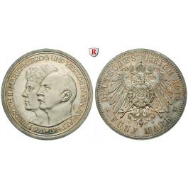 Deutsches Kaiserreich, Anhalt, Friedrich II., 5 Mark 1914, Silberhochzeit, A, PP, J. 25