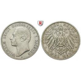 Deutsches Kaiserreich, Sachsen-Weimar-Eisenach, Wilhelm Ernst, 2 Mark 1901, Zum Regierungsantritt, A, ss, J. 157