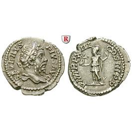 Römische Kaiserzeit, Septimius Severus, Denar 205, ss+