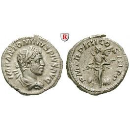 Römische Kaiserzeit, Elagabal, Denar 221, vz+