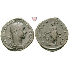 Römische Kaiserzeit, Severus Alexander, Sesterz 226, ss